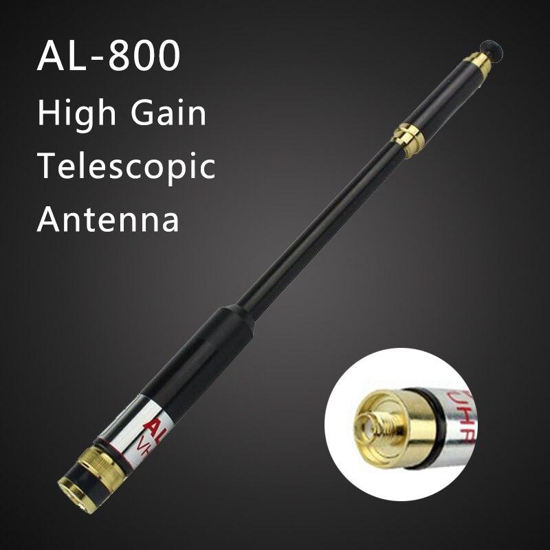 AL-800 SMA-Femelle/SMA-Mâle/BNC Dual Band 144/430 MHz Extensible Télescopique Antenne pour Baofeng UV-9R UV-XR ETC TYT WOUXUN