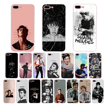 Soft silicone phone case For iPhone cover XR XS X max Pop Singer Shawn Mendes Funda 7 6 6s 8 plus Coque 5 5s SE TPU shell