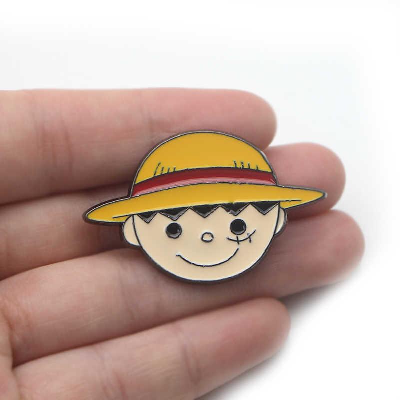 TEK PARÇA karikatür sevimli punk Çinko alaşımlı pimler rozetleri para tişört çanta giysi kapağı sırt çantası ayakkabı broş madalya süslemeleri E0626