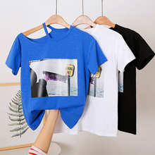 Off Shoulder White T shirt Women Tops Cotton Sexy Summer Female Short Sleeve T-shirt Black Harajuku Tee Shirt Femme 2019
