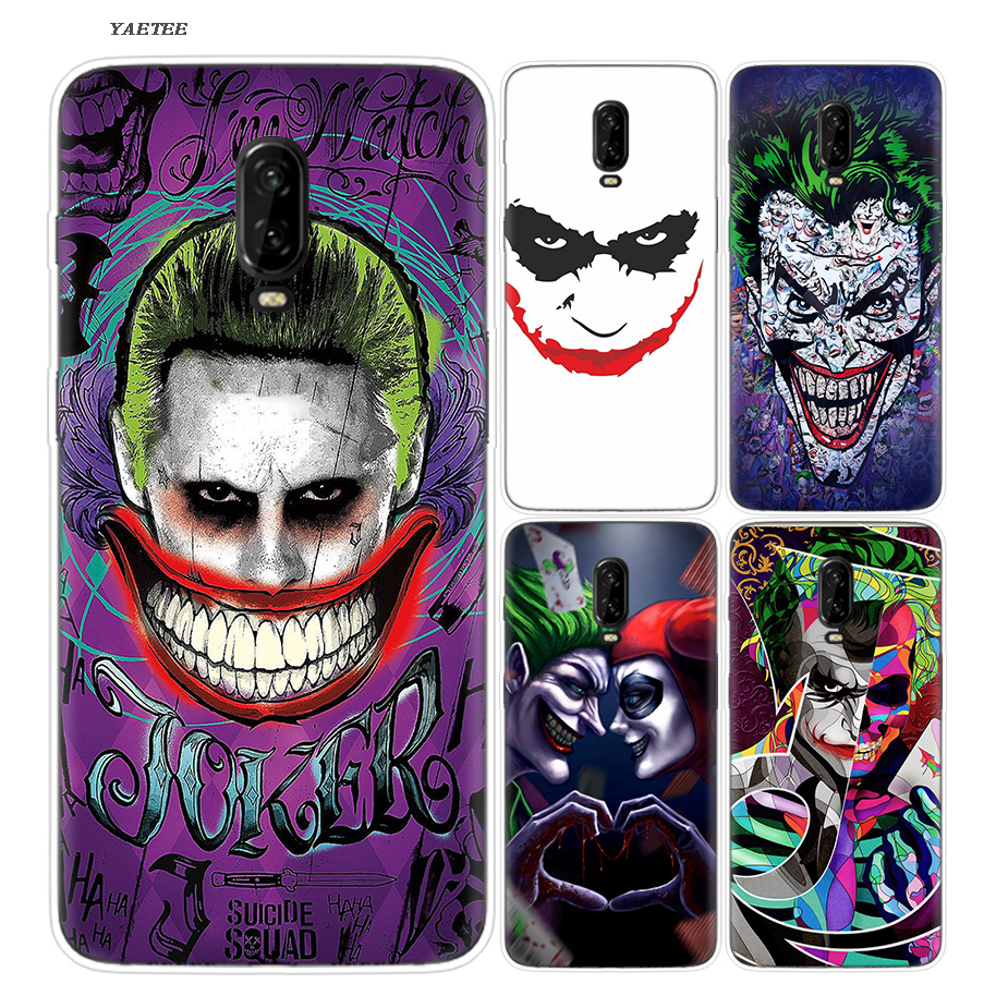 Funny Clown Luxury Silicone Phone Back Case For OnePlus 5T 6 6T Fundas Cases Painted Printing Pattern Cover Soft Coque