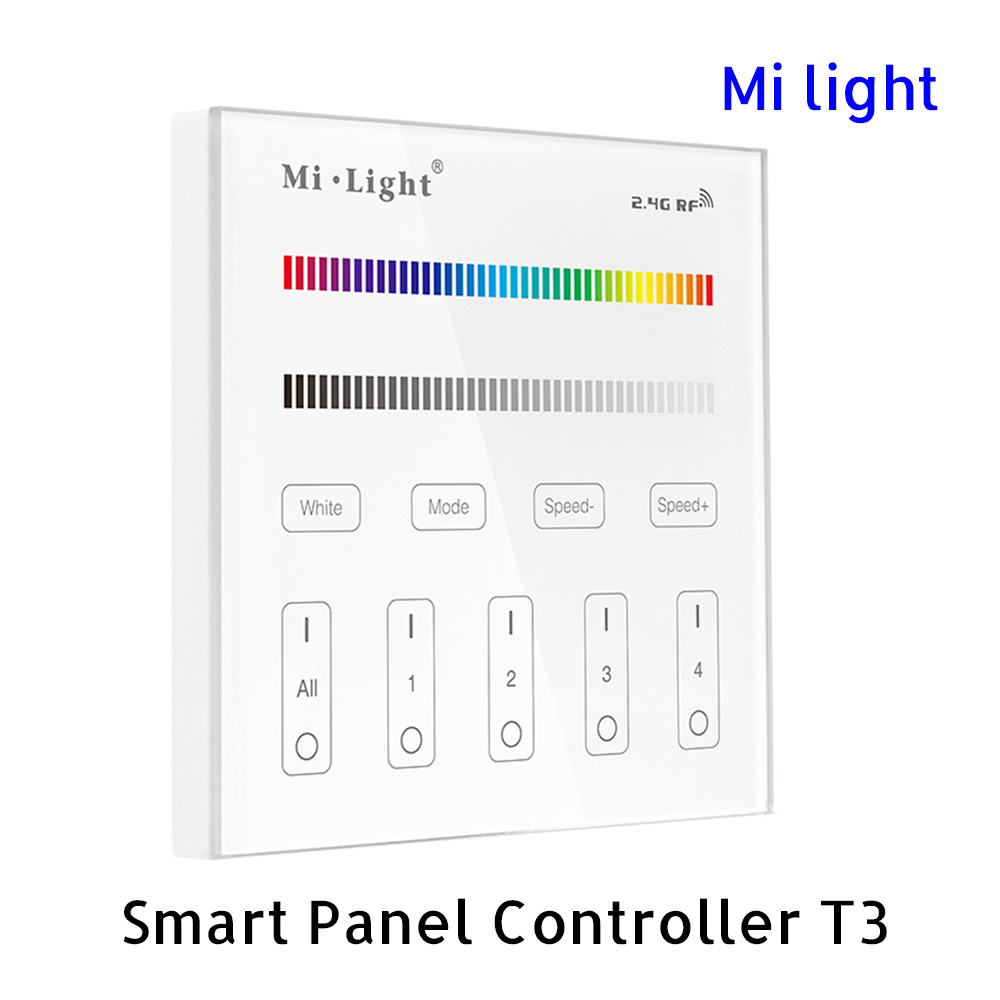MiLight Controller T3 Wall Panel Touch Smart RGBWW CCT 4 Zone Group 220V DE
