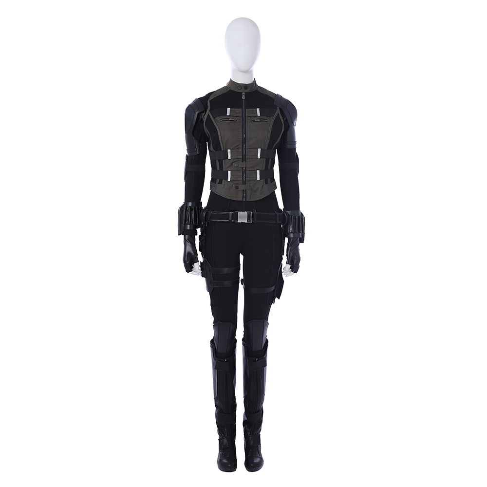 Black Widow Cosplay New Avengers Infinity War Costume Natasha Romanoff Outfit Halloween Costumes For Women Full Set Custom Made in Movie TV costumes from Novelty Special Use