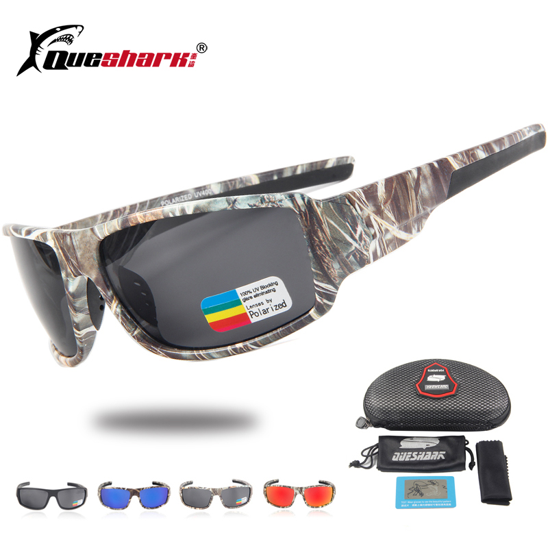 1bab9ea3791b6 Queshark Tático Camuflagem Óculos De Sol Polarizados Pesca Escalada  Correndo Óculos De Esqui Camo Esporte Óculos Óculos De Pesca