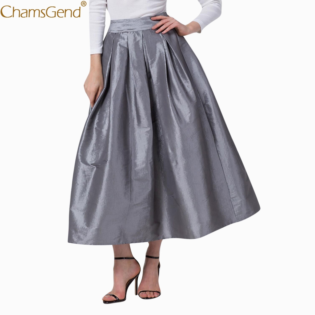 Chamsgend 2019 Autumn And Winter High Waisted Fashion Skirt Solid Slim Ball Gown High Waist Billowing Skirt Female Casual Dec28