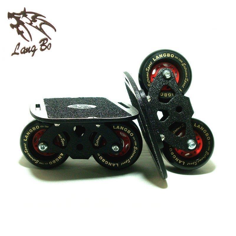 Planche originale de dérive de Langbo pour le joueur de planche à roulettes de Freeline, roue en polyuréthane de 72*43mm, taille de planche de 140*170mm, pour le patinage d'enfant adulte