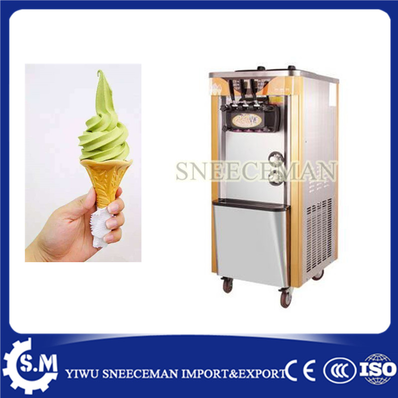 41-48L/H Commercial Soft Ice Cream Machine 3 Flavors Ice Cream Maker big capacity soft ice cream machine 30l h commercial soft ice cream making maker machine air cooling 3 flavors china soft serve ice cream maker machine with ce