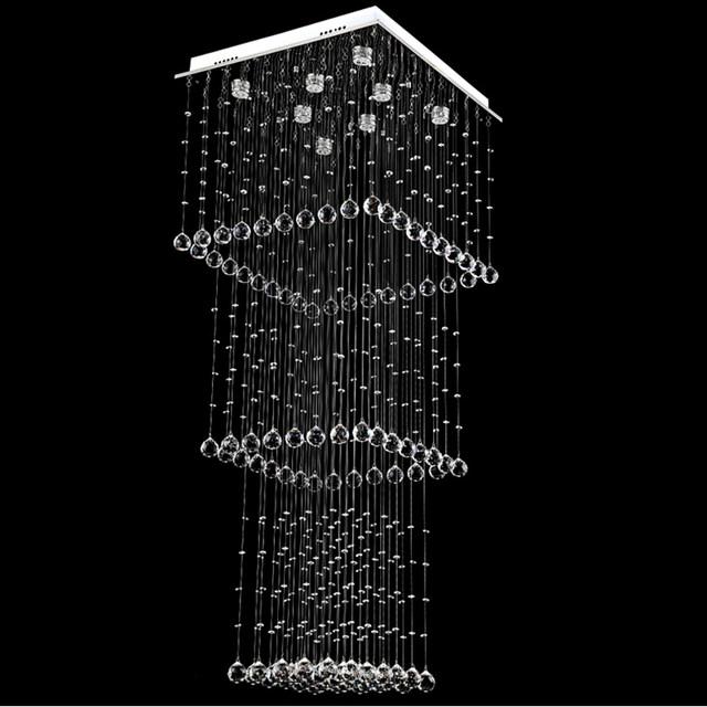 Online shop vallkin led square crystal chandelier pendant lamp image aloadofball Images