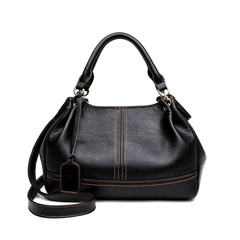 Real Sheep Women 2018 New Fashion Handbag Casual Crossbody Bags Hobos Shoulder Bag Genuine Leather Europe Female Large Tote Bag цена