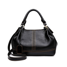 Real Sheep Women 2018 New Fashion Handbag Casual Crossbody Bags Hobos Shoulder Bag Genuine Leather Europe