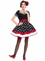 Sisjuly 1950s Black Dress Elegant Summer Vintage Dresses For Women Retro Jurken Dress With Belt 384240