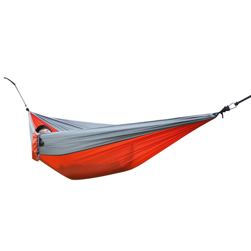 Portable Outdoor Nylon Parachute Fabric Double Person Hammock Garden Camping aotu at6716 parachute nylon fabric double hammock light blue