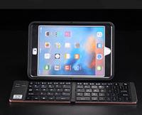 Pocket Twice Folding Mini Keyboard Metal Bluetooth Wireless Cell Phone Keypad For Iphone Tablet Ipad Xiaomi