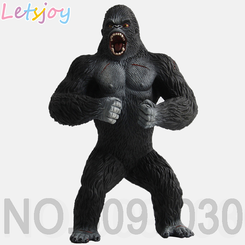Letsjoy 19cm Kingkong King Kong Chimpanzee Beast Fierce Violent Animal Models Gorilla High Quality Action Figure Toy For Kids