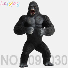 Letsjoy 19 cm Kingkong Chimpanzé King Kong besta feroz violento modelos Animais Gorila alta Qualidade Action Figure Toy for Kids(China)
