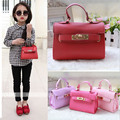 2015 Children Mini Cute Candy Color handbags Kids Messenger Bags PU Party crossbody bag For Baby Girls Free Shipping
