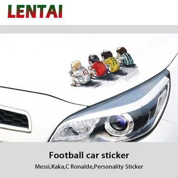 OVERE Cartoon Car Headlight Body Stickers Football Stars Styling For Fiat Punto Volkswagen VW Polo Passat B7 B8 Golf 5 6 Tiguan image