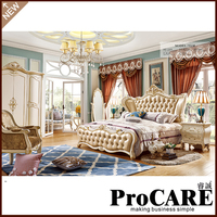 Russia style model girl bedroom furniture set foshan city market