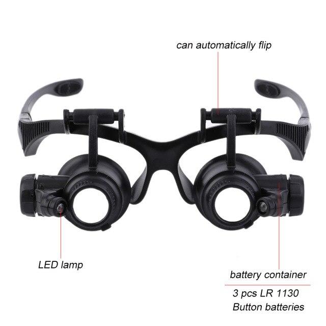 96f01088c123 1pc 20x Magnifier Magnifying Eye Glasses Loupe Lens Jeweler Watch Repair  Tool jeweler's loupe Handsfree eyeglasses legs