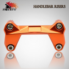High Quality Motorcycle Accessories CNC Aluminum Handlebar Risers Top Cover Clamp Fit For Dirt Bike KTM DUKE 390 200 125 orange цена в Москве и Питере
