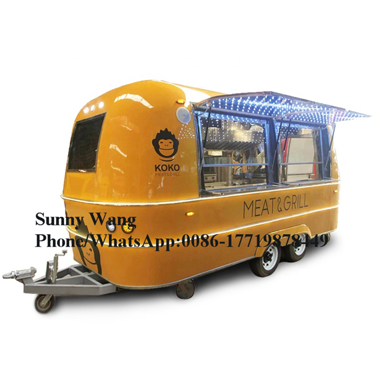 Kitchen Cooking Mobile Food Truck /food Trailer Cart / Ice Cream Cart/Mobile Food Cart Catering Food Trailer Food Truck