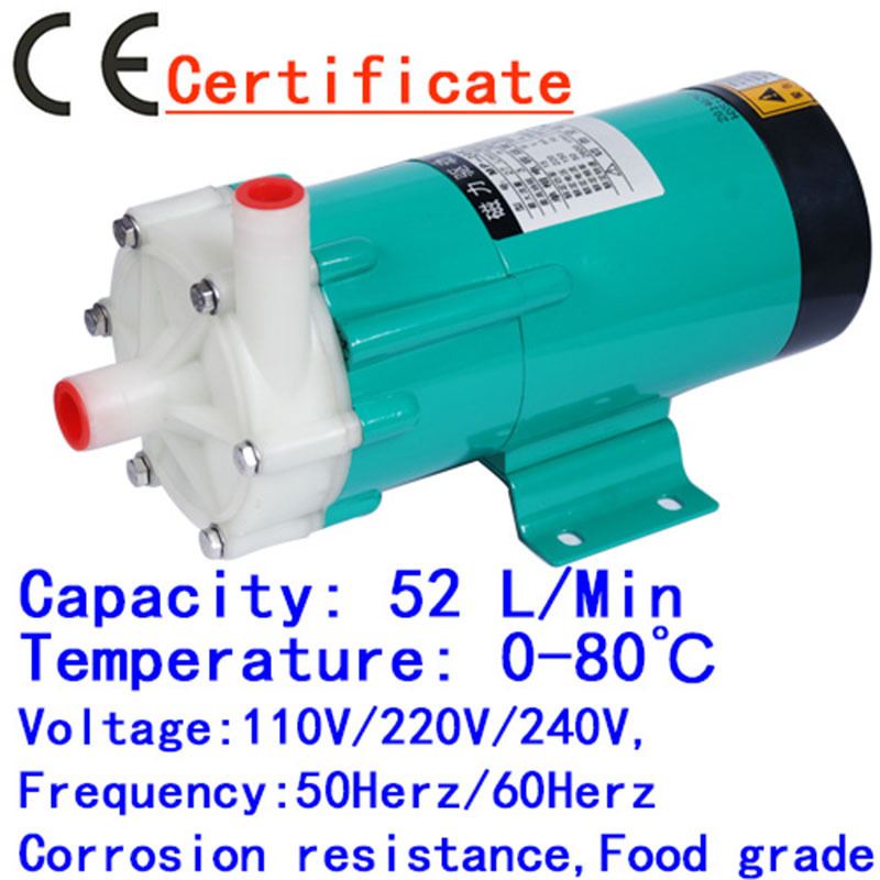 Water Pump MP-20RX 60HZ 220V Magnetic Drive Solar Pond Pumps High Flow, Spa equipment, chemical liquid transfer, factory-direct mp 55r china 220v engineering plastic magnetic drive pump big volume sea water pump industry magnetic centrifugal water pump
