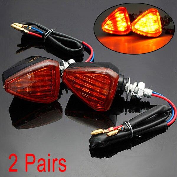 4 шт. Универсальный 13 LED мотоцикл поворотов Индикаторы свет лампы AMBER
