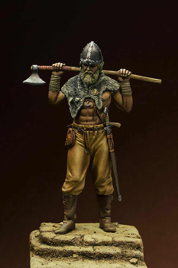 Unassambled  1/24 75MM  ancient warrior  with axe 75 mm   Resin figure miniature model kits Unpainted