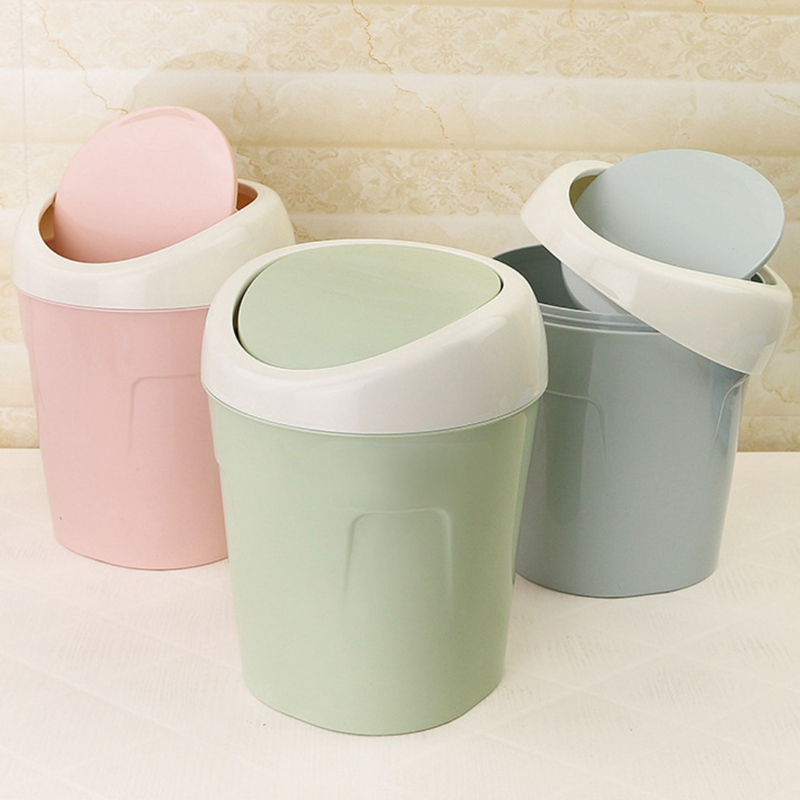 New Mini Plastic Wave cover Countertop Small trash can Kitchen Desktop Mini Wastebasket Desk Organizer Household Supplies ...