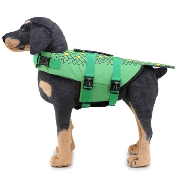 Pet Dog Life Jacket Safety Clothes Life Vest Collar Harness Saver Pet Swimwear Dog Swimming Preserver Clothes Dog Supplies 2