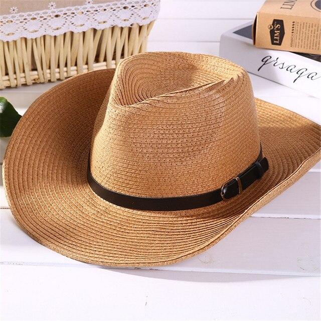 23a644e9e33 Discount 2015 Mens Summer Hats Sunscreen Male Summer Folding Cowboy Hat  Sunbonnet Beach Hat Large