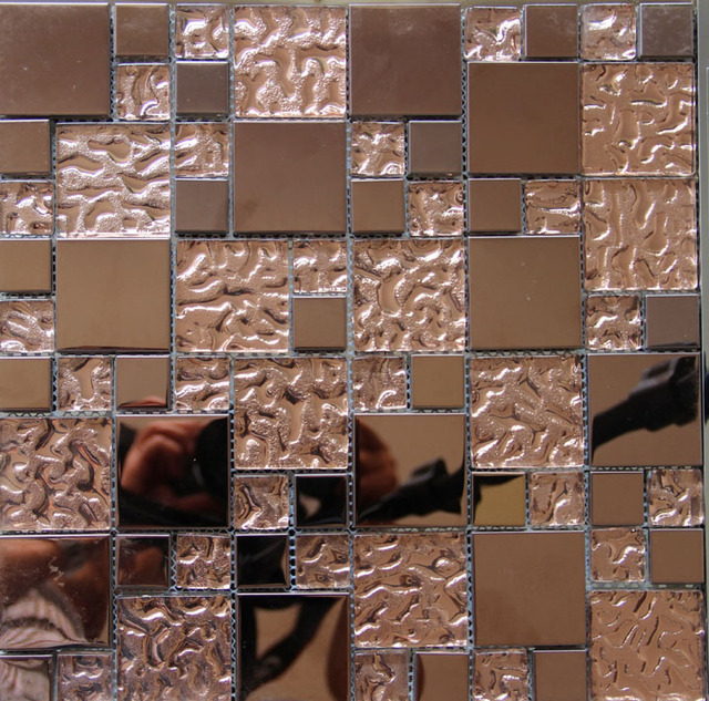 Gold Edelstahl Metall Glas Mosaik Fliesen Küche Backsplash Badezimmer  Hintergrund Dekorative Tapete Fliesen Hause Deocration