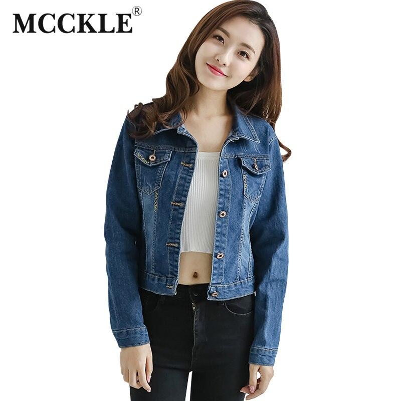 MCCKLE 2017 Autumn font b Women s b font Jean font b Jackets b font Korean