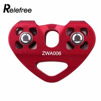 2 Colours Durable Two Axis Double Pulleys Metal Outdoor Training Climbing Tools Trolley Pulley Metal Speed Pulley