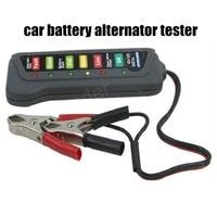 12V portable Diagnostic Tool Digital Battery Alternator Tester with 6 LED Lights Display Car Vehicle Battery circuit detector