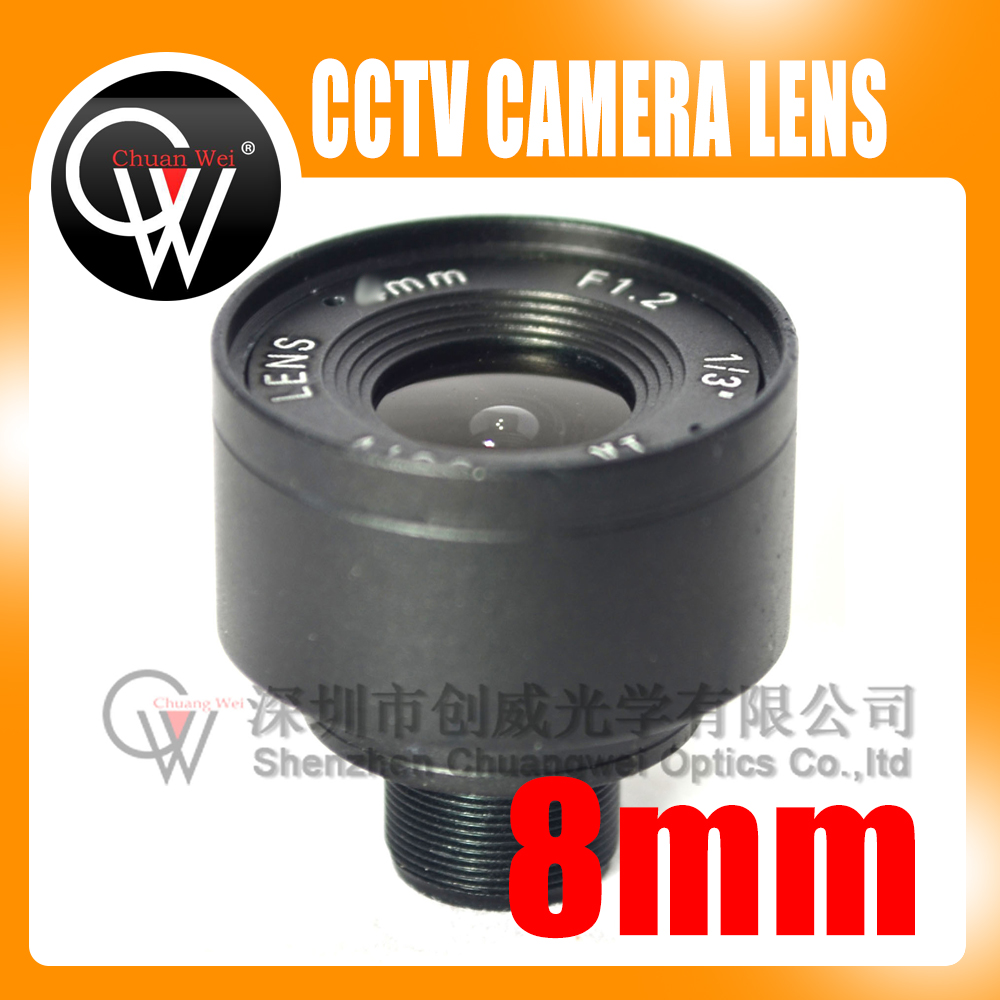 8mm lens 1/3 F1.6 Fixed Iris IR Infrared M12 Mount Lens For Security CCTV Camera Free Shipping m12 3 7mm cctv lens for cctv security camera f2 0 fixed iris m12x0 5 mount
