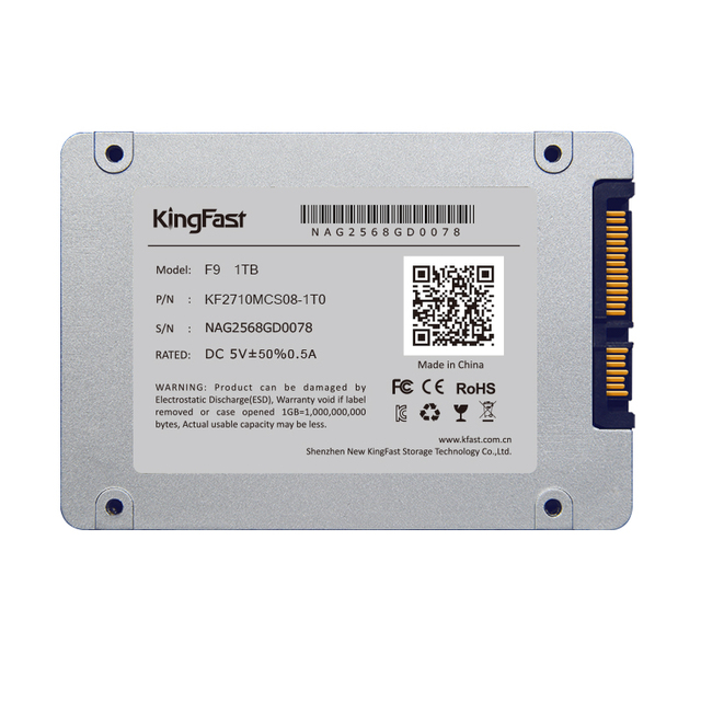 """Kingfast 7mm ultrim metal 2.5 """"interno de 1 TB SSD SATAIII 6 Gbps con caché de 1 GB Unidad de Estado Sólido para el ordenador portátil y de escritorio Envío gratis"""