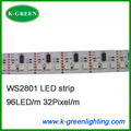 50mX WS2801 programmable flexible 5050smd dream color LED strip 96LEDs/m 32Pixels/m express free shipping
