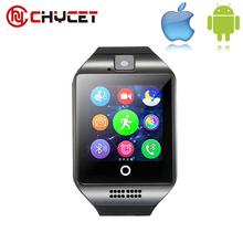 Chycet Bluetooth Smart Watch Q18 Support Sim TF Card Android IOS Relojes Whatsapp Facebook Smartwatch PK DZ09 U8 GV18 GT08