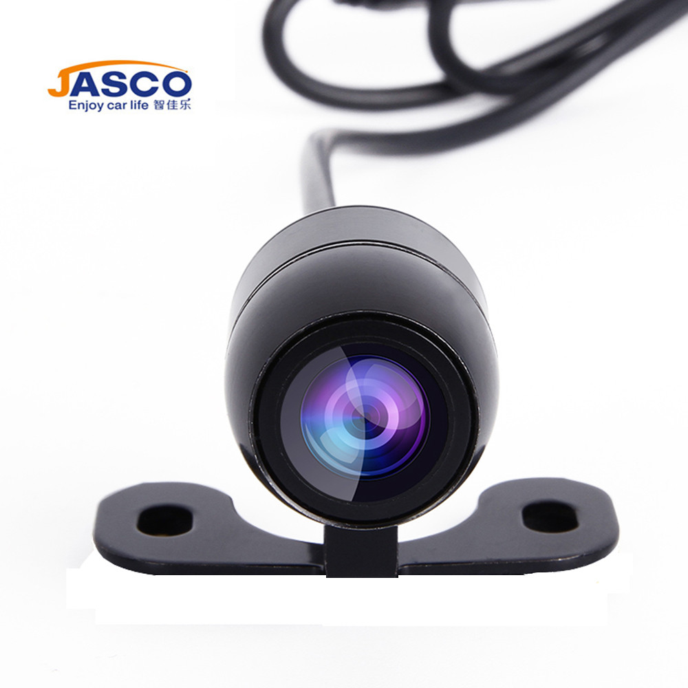 Jasco Waterproof IP68 Universal HD Car Rear View Camera Built-in Distance Scale Lines Night Vision Backup Reverse Parking Assist