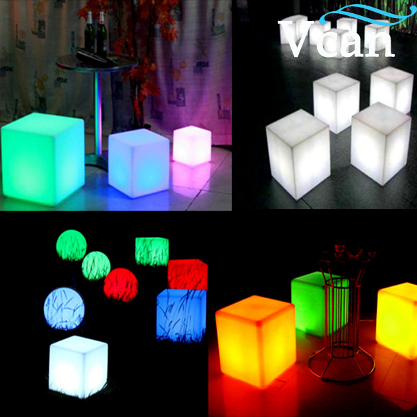 ФОТО Waterproof Colorful LED Cube Night Light  VC-A300