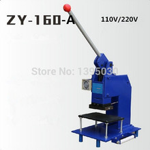 1pcs ZY-160-A manual hot foil stamping machine  manual stamper leather embossing machine Printing area 100*60MM