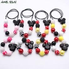 MHS. SUN милые Мультяшные детские бусы, ожерелье, браслет, модное регулируемое ожерелье с веревкой, вечерние ювелирные изделия для маленьких девочек, подарок