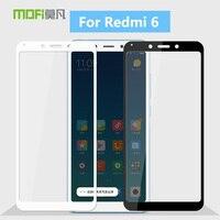 Para Xiaomi Redmi 6 MOFi Original 9 H Vidro Temperado Film Protector de Ecrã para Redmi Cobertura Completa 6 de Vidro Temperado filme