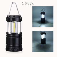 Portable COB LED Camping Light Battery Powered Portable Lanterns Ultra Light Collapsible Hiking Outdoor Emergency Lamp