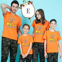 Parent-child T-shirts Lovely Cartoon Chicken Shirt Lovers Family T-shirt Women Summer from Casual Tops Kid clothes 10DD10388