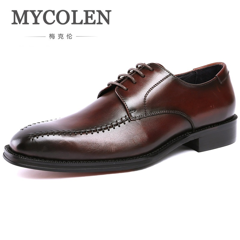 MYCOLEN Brand MenS Dress Shoes Wear Comfortable Men Wedding Shoes Gentleman Man Leather Shoes Business Formal Shoes SapatosMYCOLEN Brand MenS Dress Shoes Wear Comfortable Men Wedding Shoes Gentleman Man Leather Shoes Business Formal Shoes Sapatos