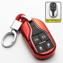 TPU Car Remote Key Shell Cover Case For Maserati Ghibli Quattroporte Granturismo Ghibli Spoiler Levante Coolest Auto Accessorise