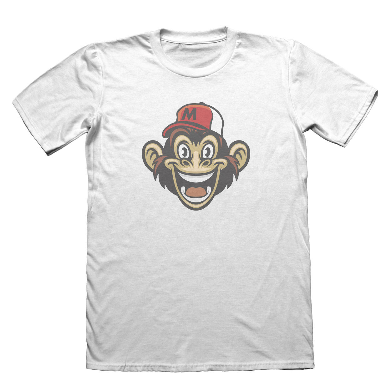 Monkey Design T-Shirt - Mens Fathers Day Christmas Gift #6038