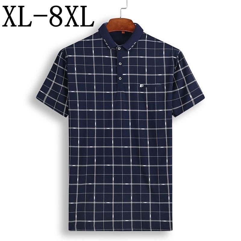 NEW Men Button Up Shirt BIG /& TALL L-8XL Striped Plaid Short Sleeve 12 Colors